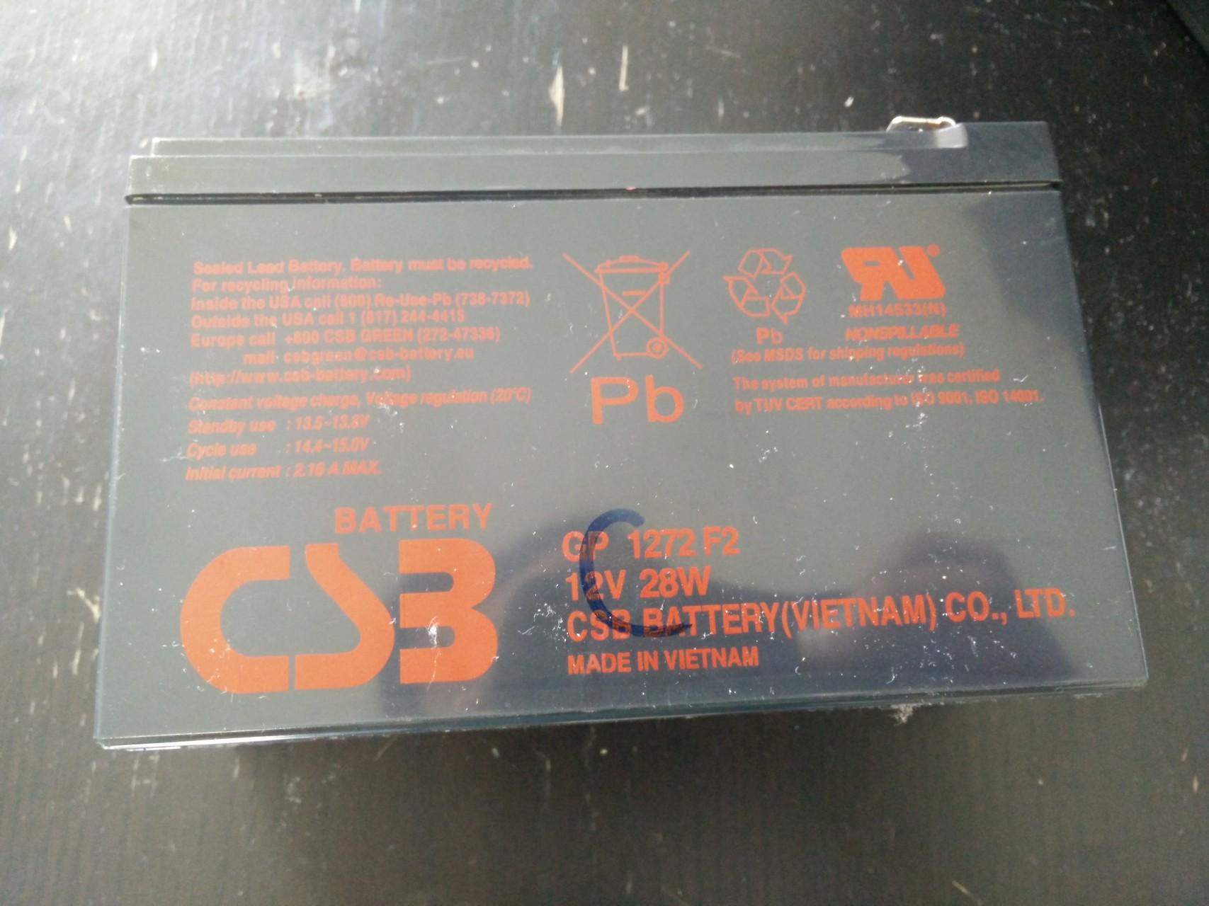 La batterie en fin de vie, référence GP1272 F2